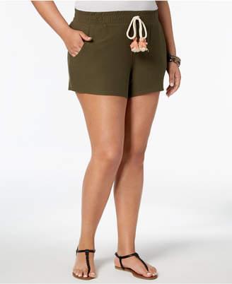 Planet Gold Trendy Plus Size Tassel Shorts