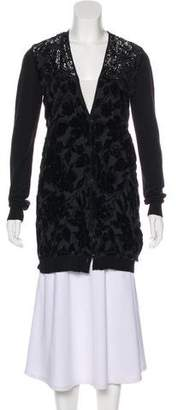 Lanvin Wool-Blend Embroidered Cardigan
