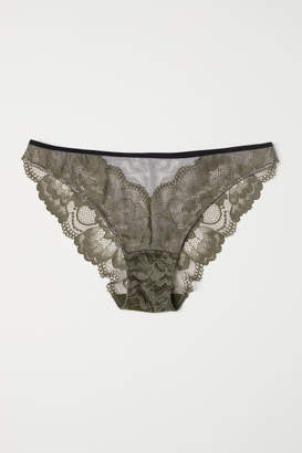 H&M Lace Bikini Briefs - Green
