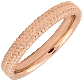 Simply Stacks Sterling 18K Rose Gold-Plated 3.25mm Braid Ring