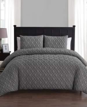 Vcny Home Lattice Embossed 2 Piece Twin Xl Duvet Set Bedding