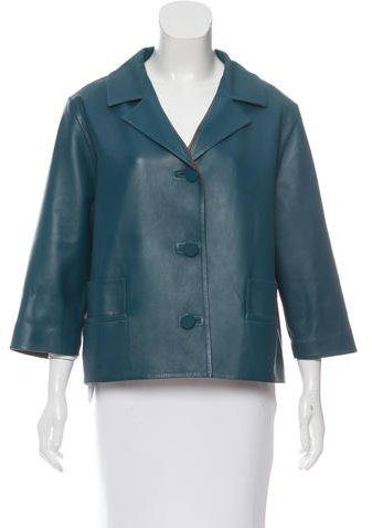 MarniMarni Reversible Leather Jacket w/ Tags