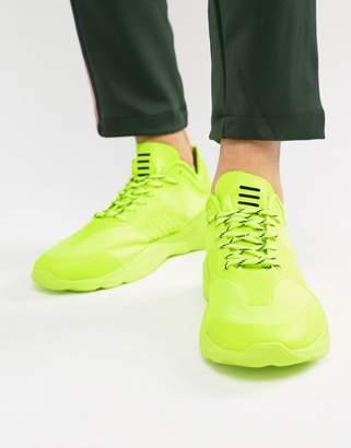 Bershka Sneakers In Neon Yellow