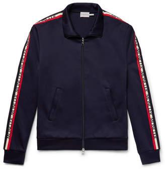 Moncler Slim-Fit Grosgrain-Trimmed Nylon And Cotton-Blend Track Jacket