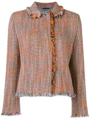 Akris Punto asymmetric tweed jacket