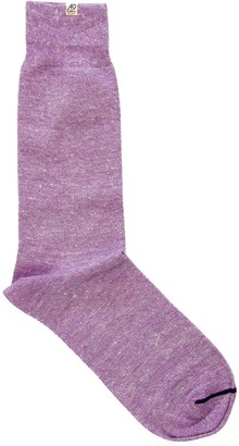 Melange Home 40 Colori Purple Linen Socks