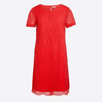 J.Crew Factory Lace dress with scalloped hem