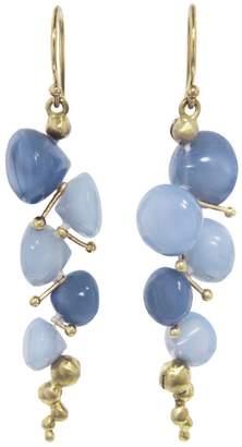 Rachel Atherley Small Peruvian Blue Opal Caviar Drop Earrings