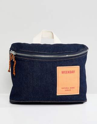 Weekday limited collection denim cross body bag