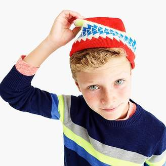 J.Crew Boys' crewneck sweater with stripes
