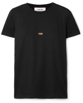 Helmut Lang London Taxi Printed Cotton-jersey T-shirt - Black