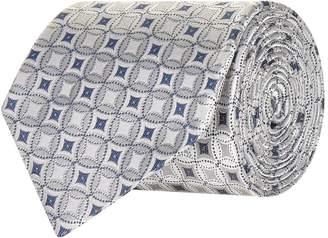 Emporio Armani Diamond Mosaic Silk Scarf