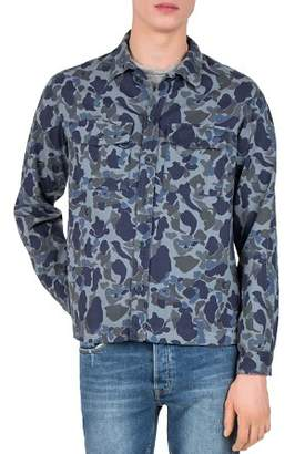 The Kooples Camouflage Regular Fit Button-Down Shirt