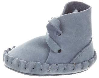 Donsje Boys' Suede Lace-Up Moccasins