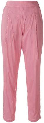Semi-Couture Semicouture gingham cropped trousers