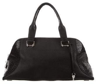 VBH Crocodile-Trimmed Avenue Bag