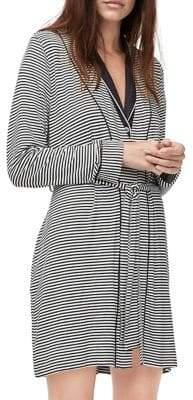 UGG Striped Lightweight Jersey Knit Robe