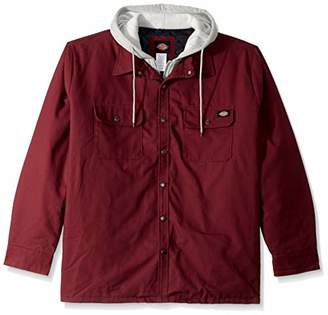 Dickies Men's Relaxed fit Hooded Duck Quilted Shirt Jacket Big