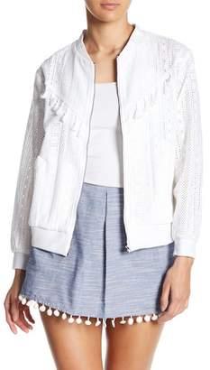 Line & Dot Celia Lace Bomber Jacket