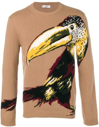 Valentino Toucan knitted jumper