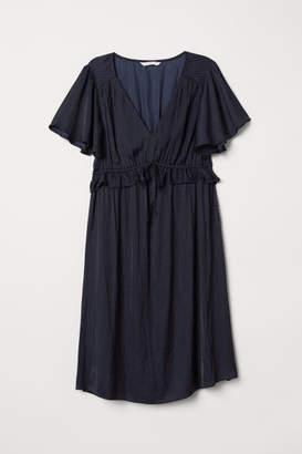 H&M MAMA Ruffle-trimmed Dress - Blue