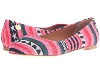 M Missoni Star Stripe Pink Ballet Shoes Women's Ballet Shoes