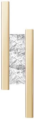 "Selin Kent Princess Cut Diamond ""Elena"" Earrings"