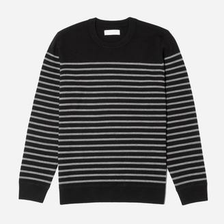 The Midweight Merino Striped Crew $88 thestylecure.com