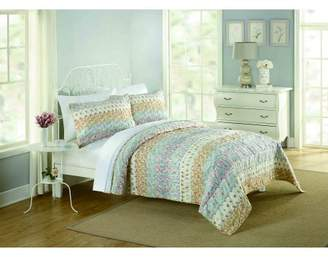 Better Homes & Gardens Ruched Banded Floral Quilt Pack, Full/Queen