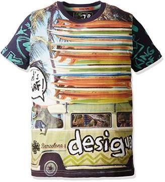 Desigual (デジグアル) - (デシグアル) Desigual Tシャツ 72T36A0 5138 ターコイズ 7/8