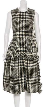 Simone Rocha Plaid Embellished Dress