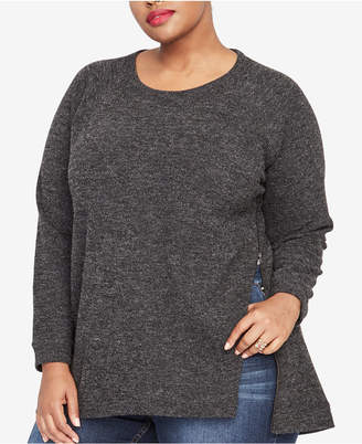 Rachel Roy Trendy Plus Size Side-Zip Sweater