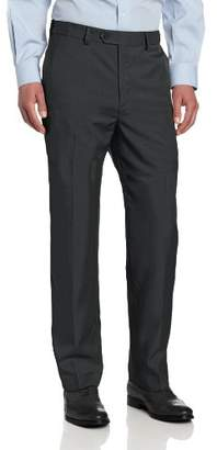 Savane Men's Flat Front Select Edition Crosshatch Dress Pant