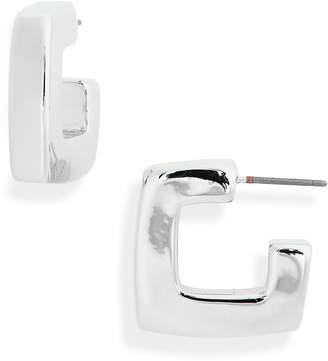 BP Small Square Hoop Earrings