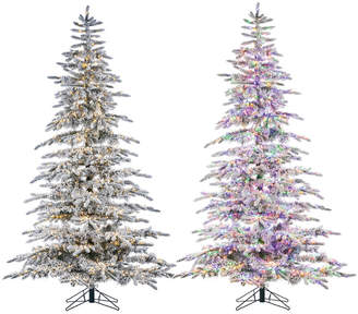 Sterling Tree Company 7.5Ft Flocked Pre-Lit Mountain Pine