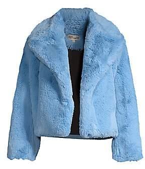 Diane von Furstenberg Women's Faux Fur Short Jacket