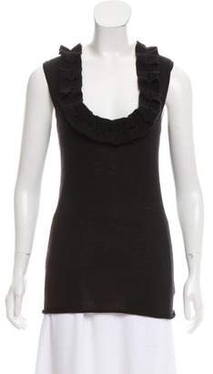 Lela Rose Sleeveless Cashmere Top
