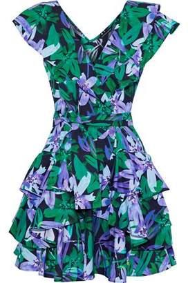 Marissa Webb Maisie Ruffled Floral-Print Cotton-Poplin Mini Dress
