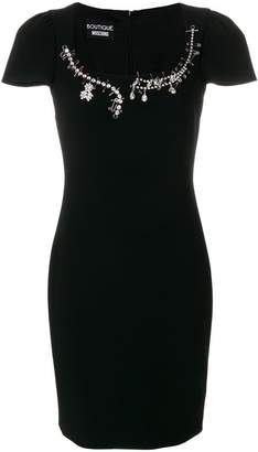 Moschino embellished fitted dress