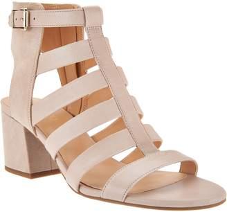 Franco Sarto Leather Multi-strap Open Toe Sandals - Mesa