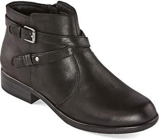 Yuu Womens Becca Booties Stacked Heel