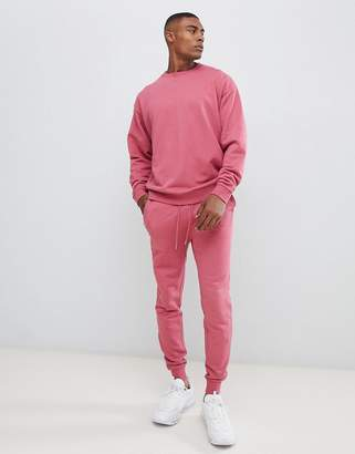 Asos Design DESIGN Tracksuit Oversized Sweatshirt / Skinny Joggers