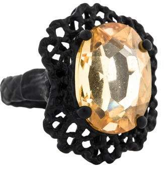 Bottega Veneta Crystal Filigree Ring