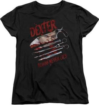 Dexter 2Bhip Crime Drama TV Series Showtime Blood Never Lies Women's T-Shirt Tee