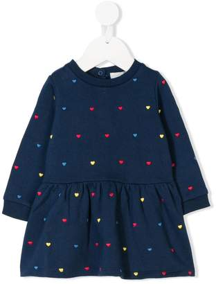 Stella McCartney heart print sweatshirt dress