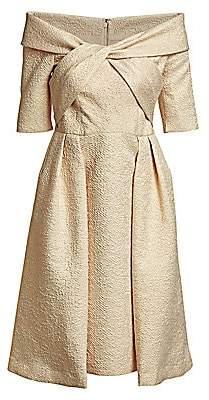 Teri Jon by Rickie Freeman Women's Textured Cocktail Dress