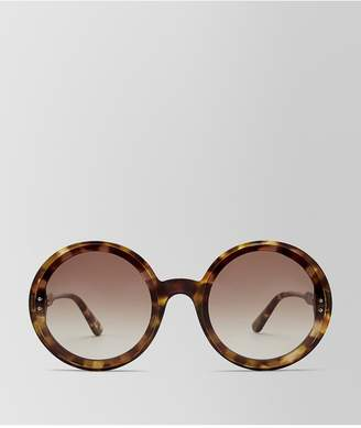Bottega Veneta Avana Brown Acetate Hoop Sunglasses