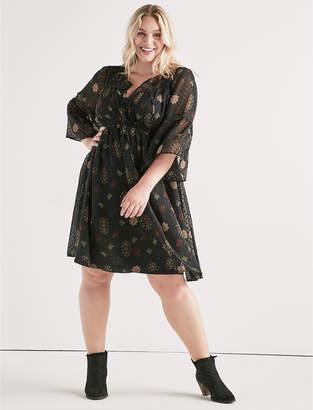 Lucky Brand SWISS DOT FLORAL DRESS