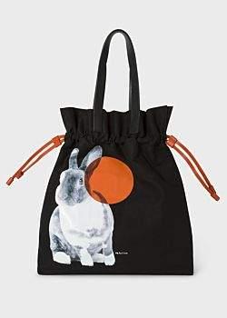 Paul Smith Women's Black 'Rabbit' Print Canvas Tote Bag