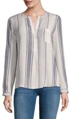 Joie Oden Stripe Silk Blouse